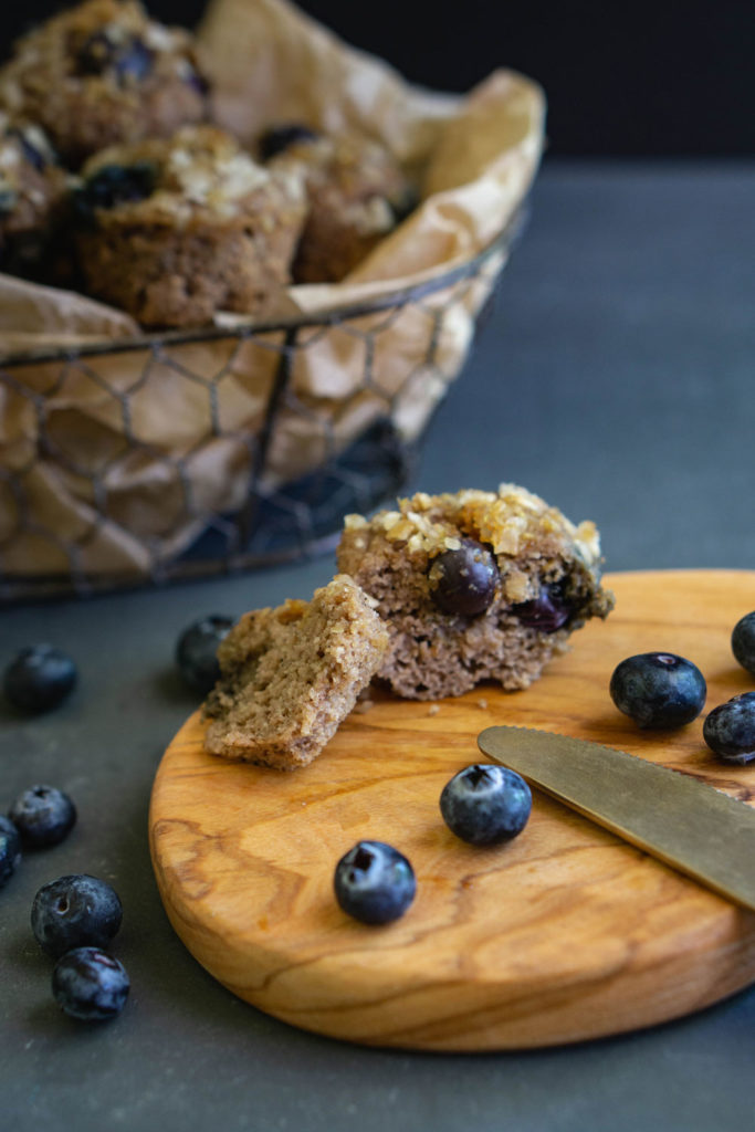 Paleo blueberry mini muffins