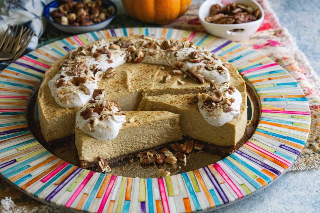 Paleo Vegan Pumpking No-Cheesecake