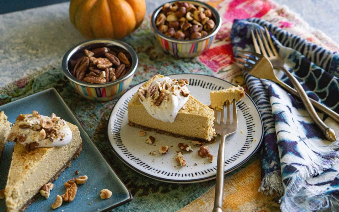 Paleo Vegan Pumpkin No-Cheesecake