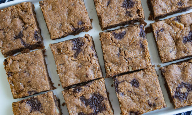 Paleo Vegan Chocolate Chunk Blondies