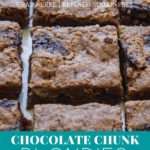 Dairy free chocolate chunk blondies